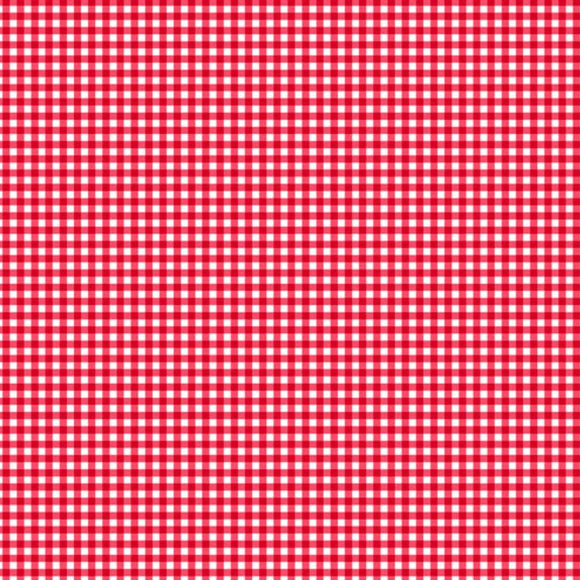 Gingham from Makower - Red