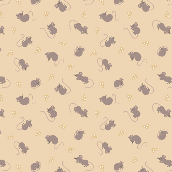 Mice - Small Thing Country Creatures Fabric Range - Lewis and Irene - Hey