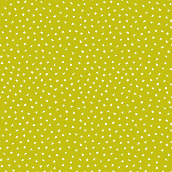 Star Bright Fabric Range - Andover - Chartreuse