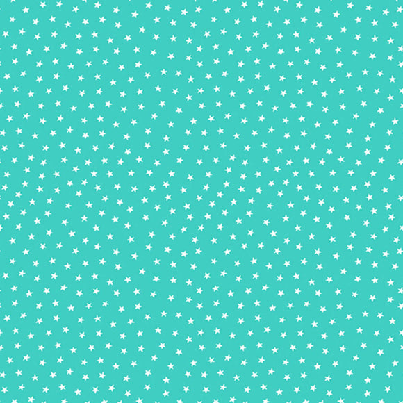 Star Bright Fabric Range - Andover - Light Teal