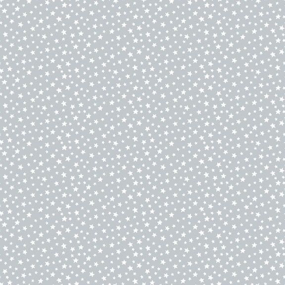 Star - Essentials range of fabric by Makower - Pewter