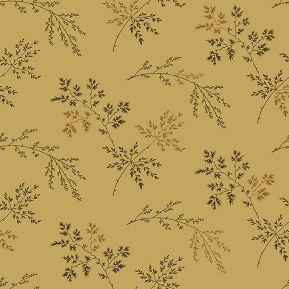 Twigs - Super Bloom Range of Fabric by Edyta Sitar - Dark Khaki