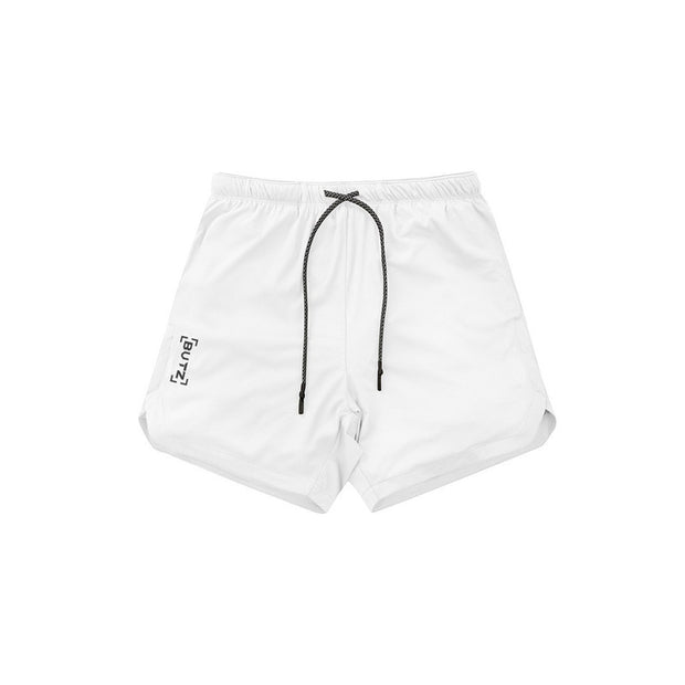 Mens Short Length Athletic Shorts with Conceal Pocket - White