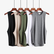 New Mens Slim Tank - Khaki