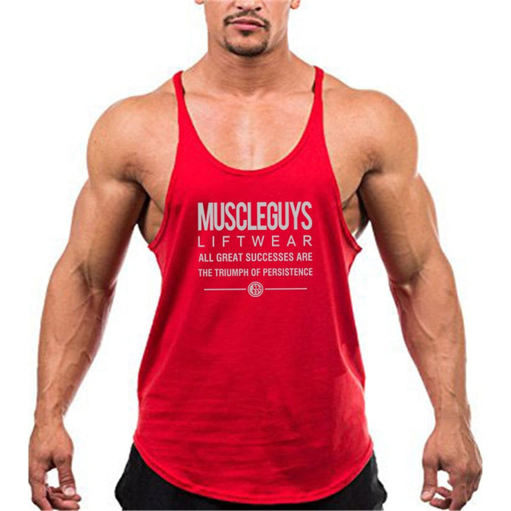 MuscleGuys Stringer Tank - Blue / Red / Yellow