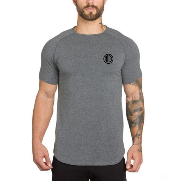 MuscleGuys Slim Fit T-Shirt - Dark Grey