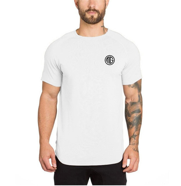 MuscleGuys Slim Fit T-Shirt - White