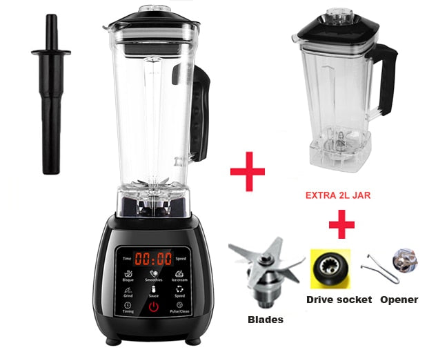 3HP *BPA FREE* 2L  Automatic Touchpad Professional Blender, Mixer, Juicer !High Power!