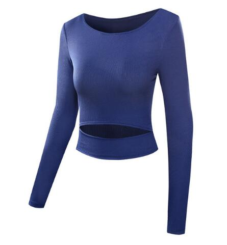 Womens Blue Yoga Crop Top