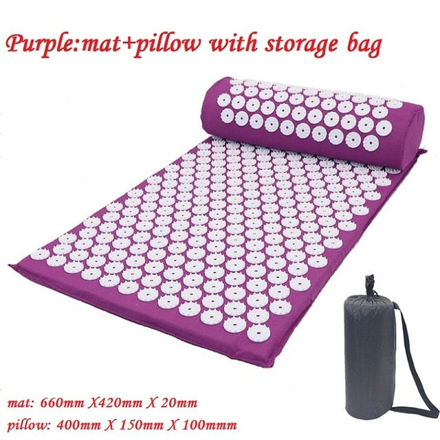 ACUPRESSURE MUSCLE RELIEF YOGA MAT + PILLOW