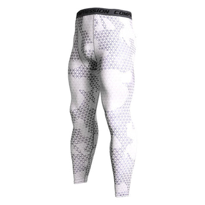 Mens Compression Pants - White Camo