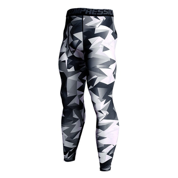 Mens Compression Pants - Modern Camo