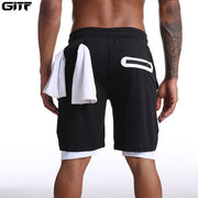 Mens Knee Length Athletic Shorts with Conceal Pocket - Black