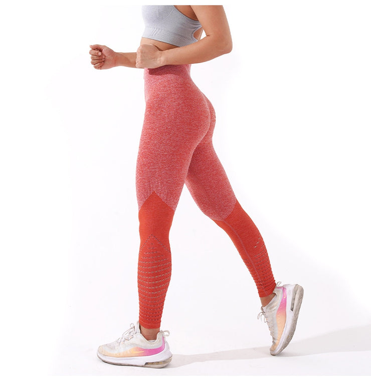 Womens High Waist Athletic Leggings - Jise / Pink