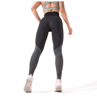 Womens High Waste Athletic Leggings - Grey