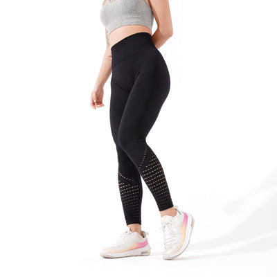 Womens High Waist Athletic Leggings - Black