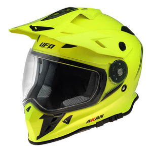 CASCO UFO AKAN ENDURO ADVENTURE AMARILLO