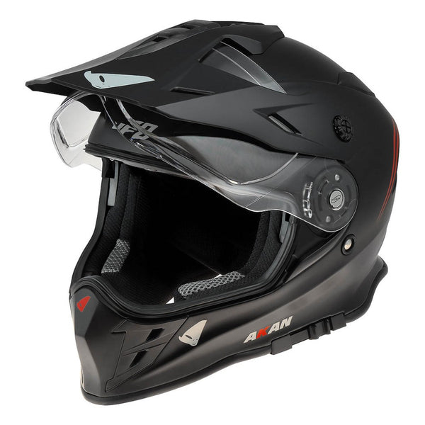 CASCO UFO AKAN ENDURO ADVENTURE NEGRO