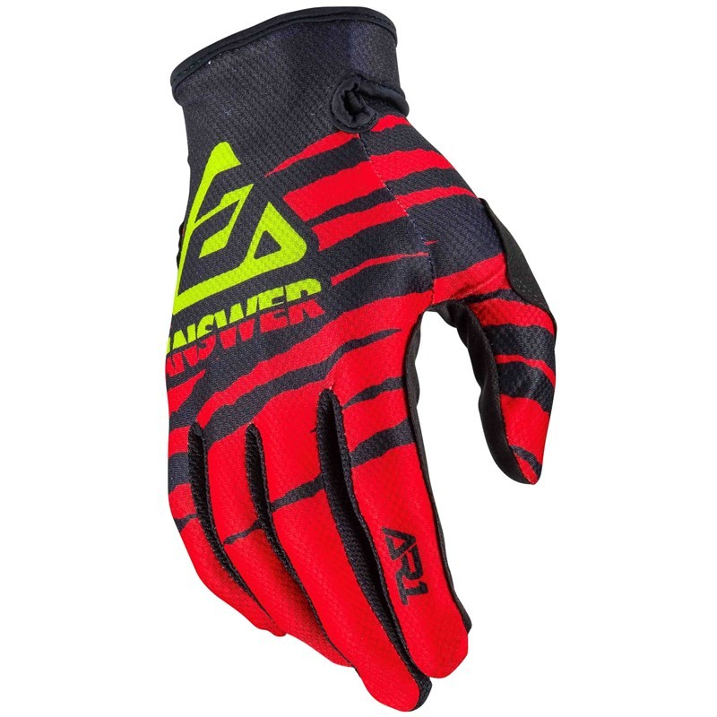 GUANTES ANSWER AR1 PRO GLO ROJOS