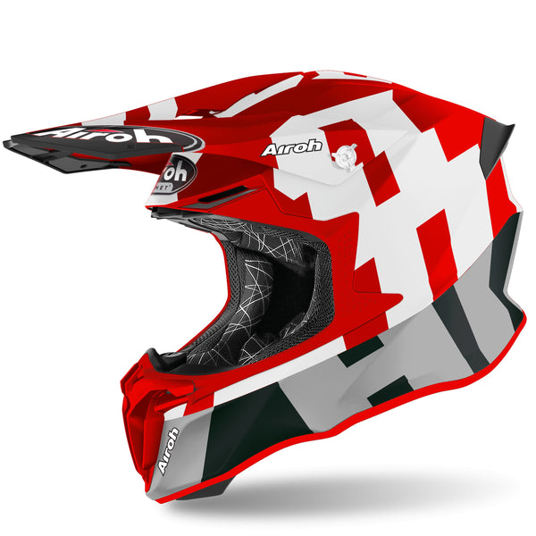 CASCO AIROH TWIST 2.0 FRAME 2020 ROJO MATE