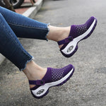 Load image into Gallery viewer, Women mesh breathable thick bottom air cushion heelless shoe cover shoes