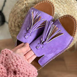 Load image into Gallery viewer, Ladies comfortable summer tassel slippers