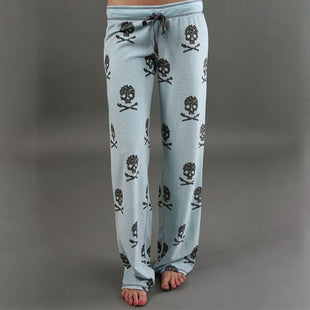 Women's Skull Printing Casual Home Pants