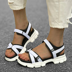 Load image into Gallery viewer, Women Hook Loop Platform Sport Sandals