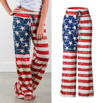 Load image into Gallery viewer, Casual Loose American Flag Striped Drawstring Wide Leg Pants