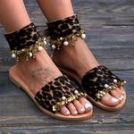 Load image into Gallery viewer, Women Flocking Sequin Sandals Casual Buckle Plus Size Shoes