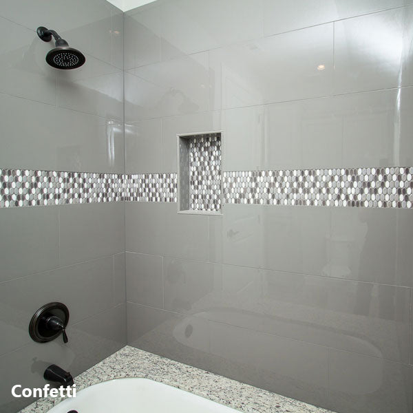 Confetti Pebble Mosaic Wall Tile