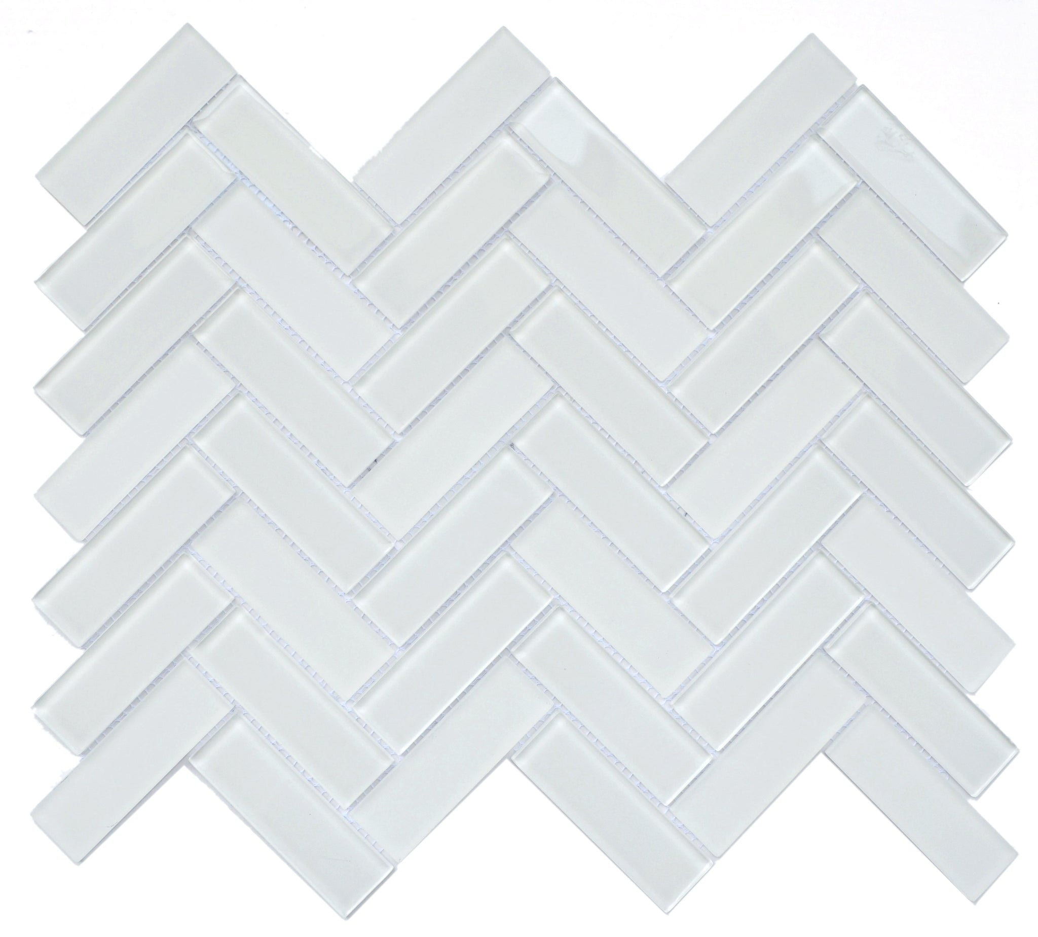 Charisma Glass Herringbone Mosaic Tile Finesse