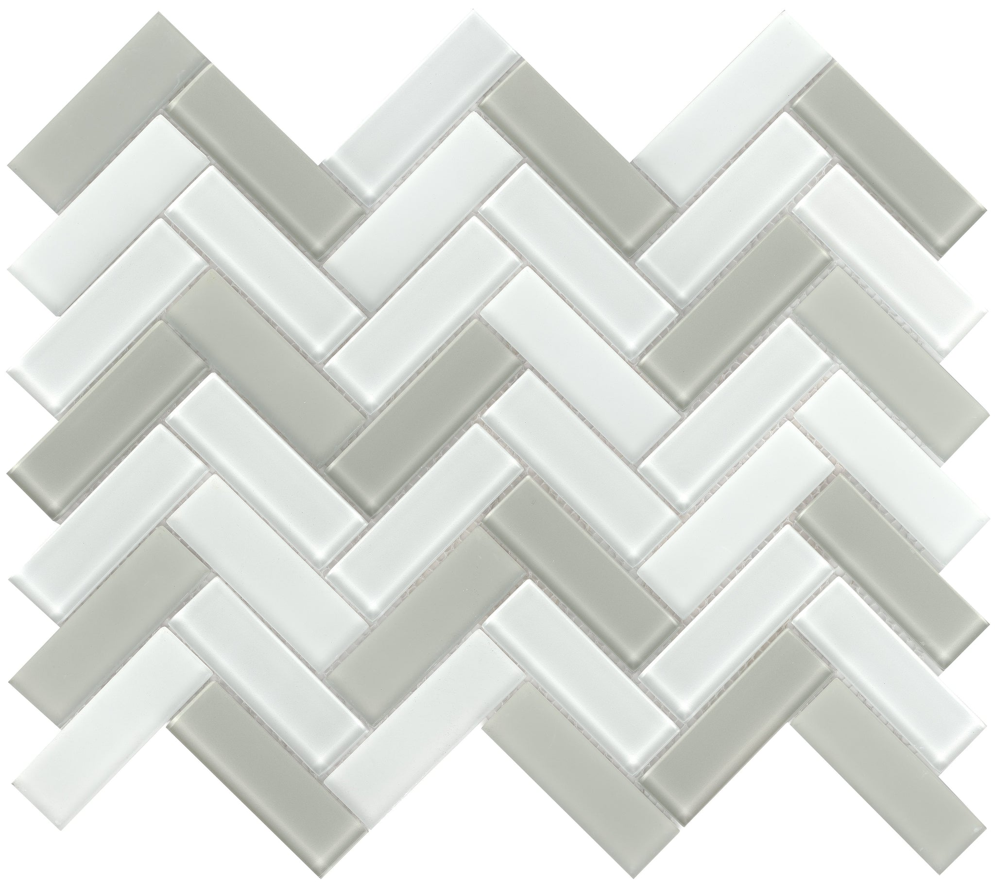 Charisma Glass Herringbone Mosaic Tile Flair