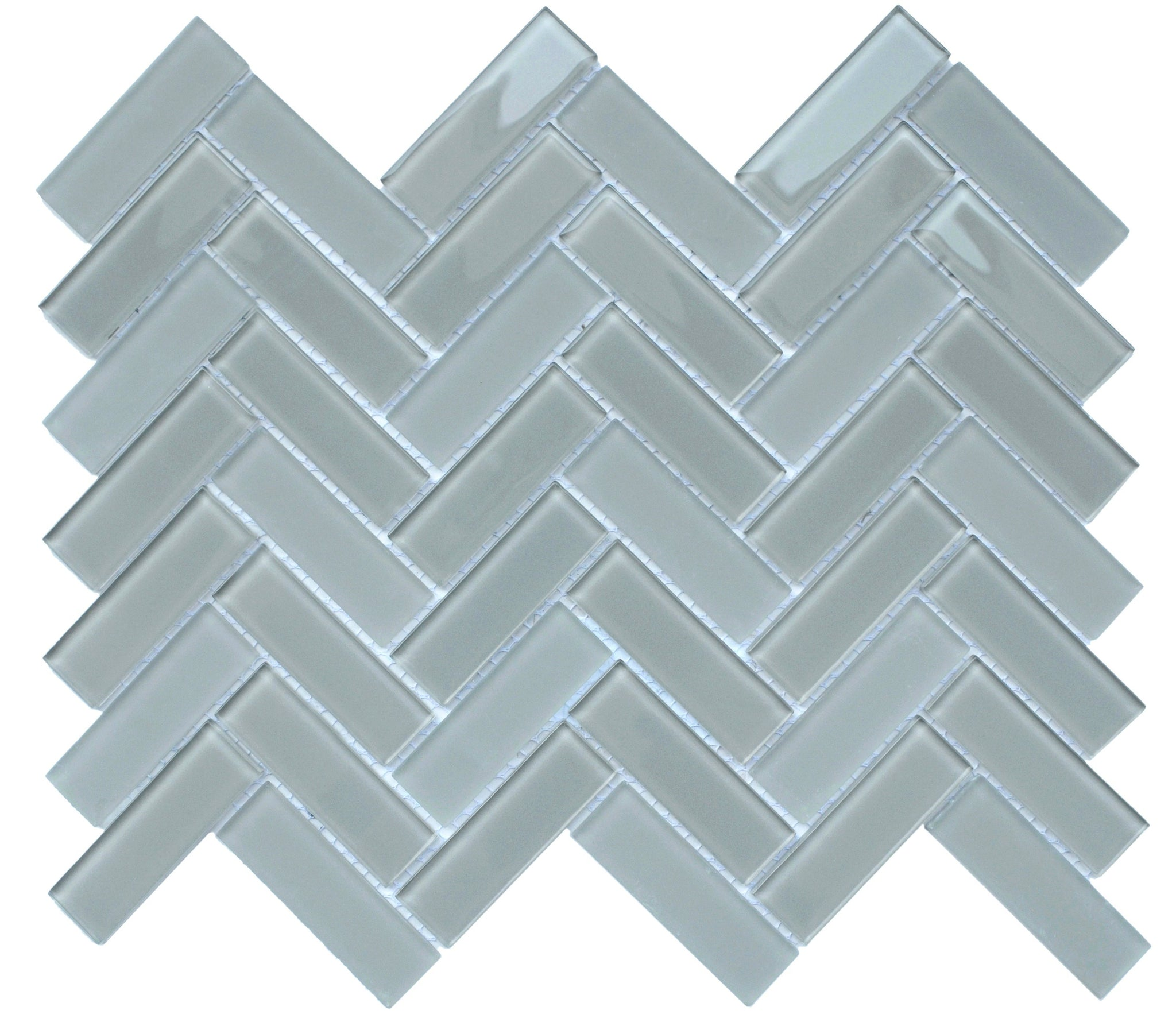Charisma Glass Herringbone Mosaic Tile Grace