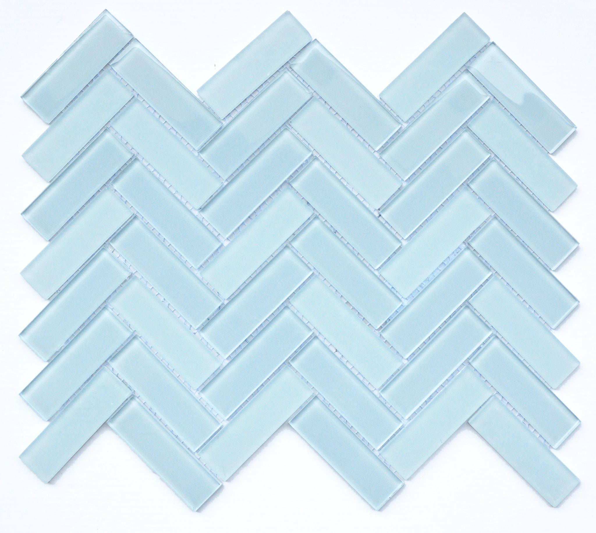 Charisma Glass Herringbone Mosaic Tile Poise