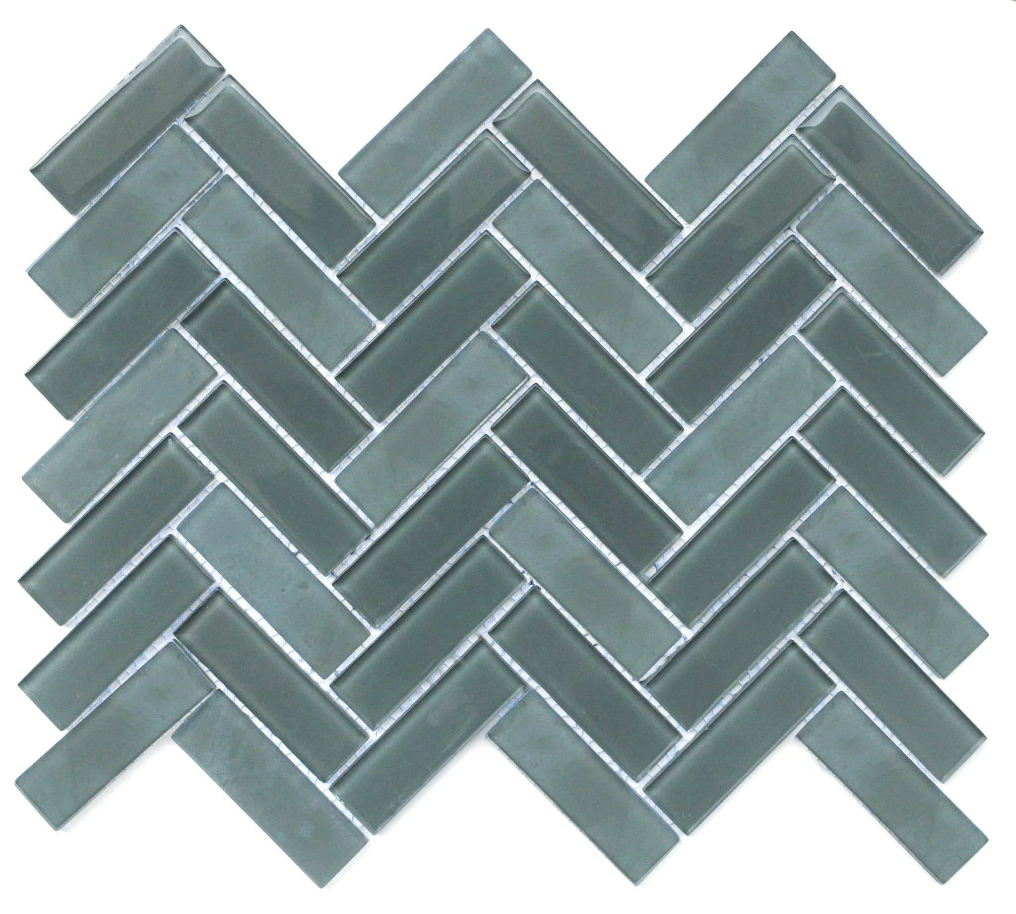 Charisma Glass Herringbone Mosaic Tile Wise