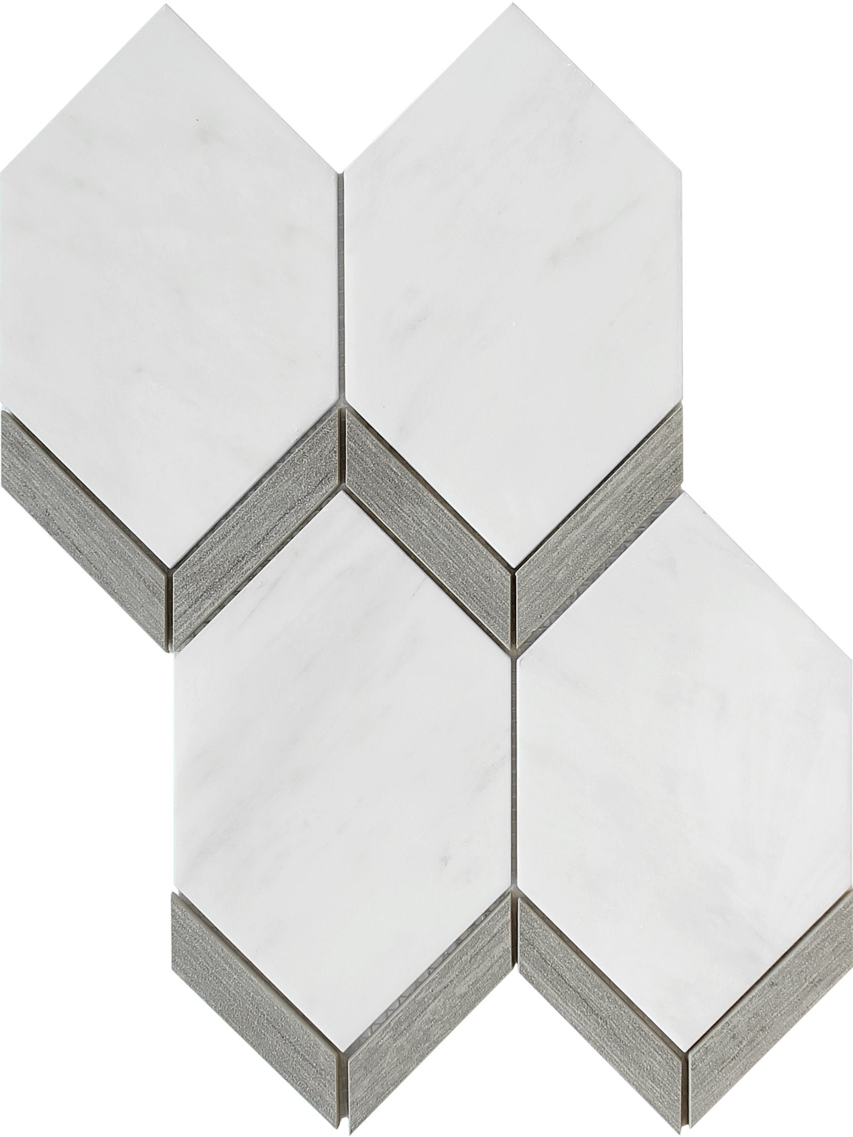Intrigue Gray Picket Tile