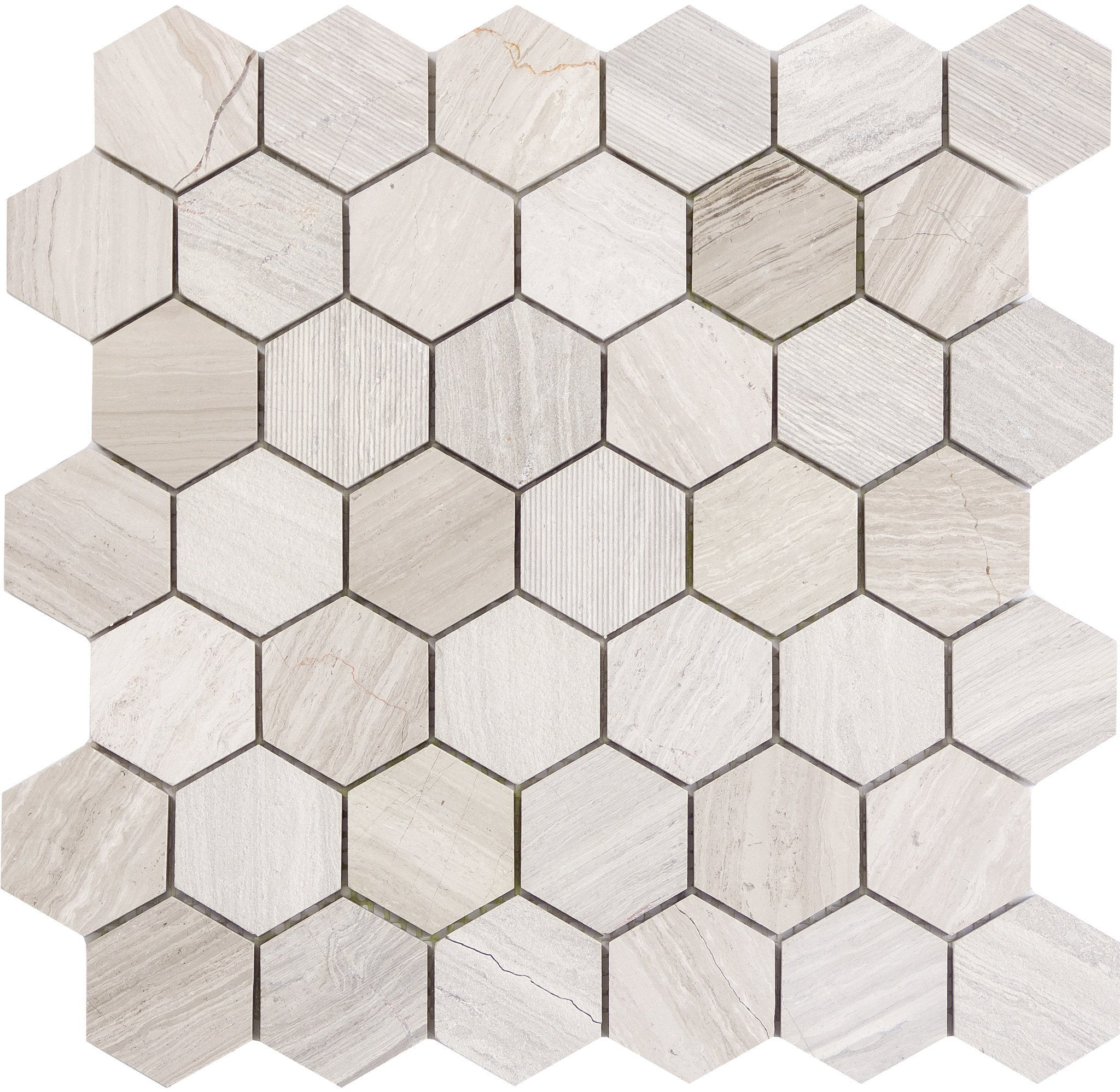 "Metro Cream 2"" Hexagon"