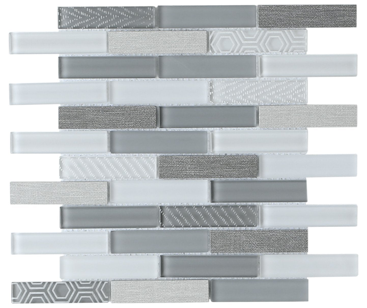 Volare Glass & Porcelain Wall Tile Nebbia
