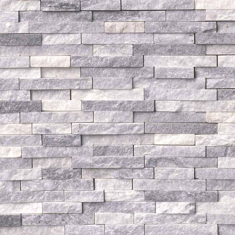 Alaskan Gray Splitface Interlocking Pattern Tile