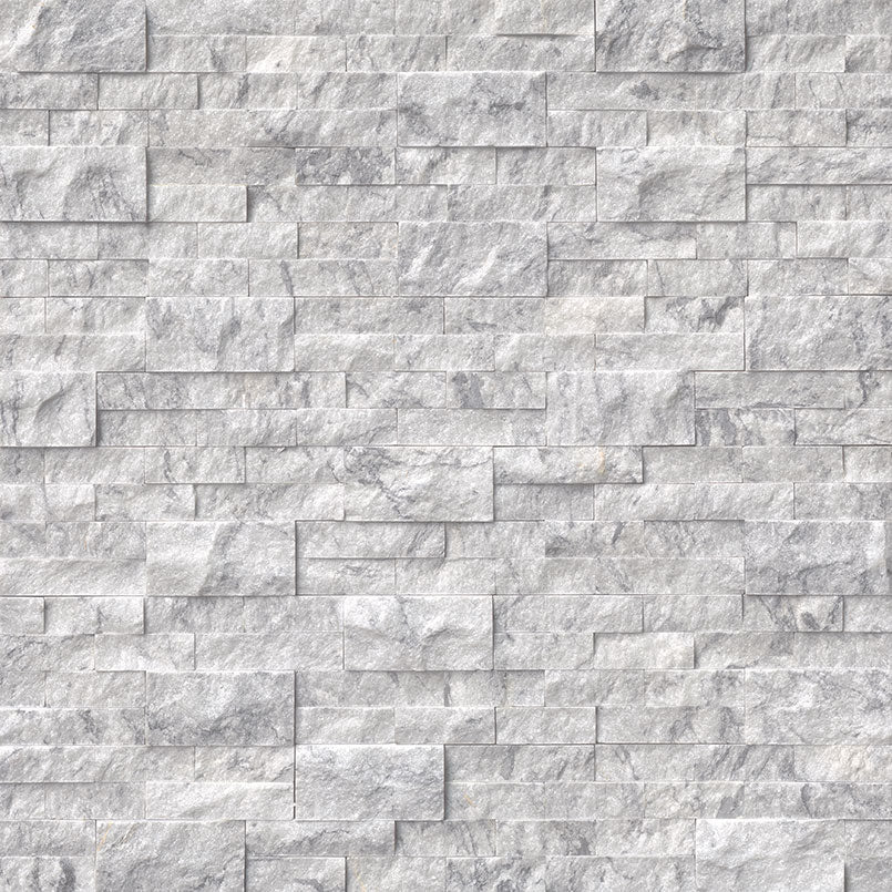 Arabescato Carrara Rockmount Stacked Stone Panels