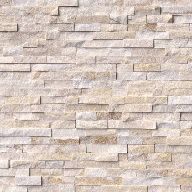 Arctic Golden Rockmount Stacked Stone Panels