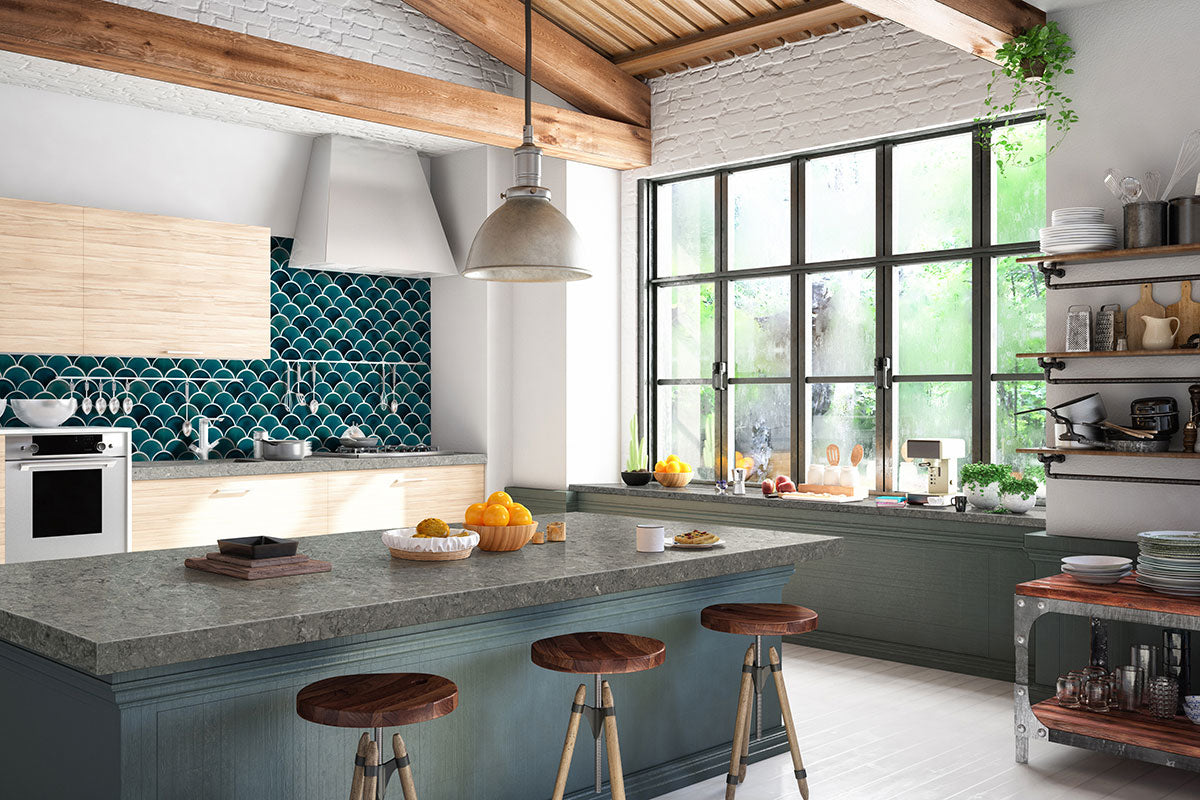 Azul Scallop Tile