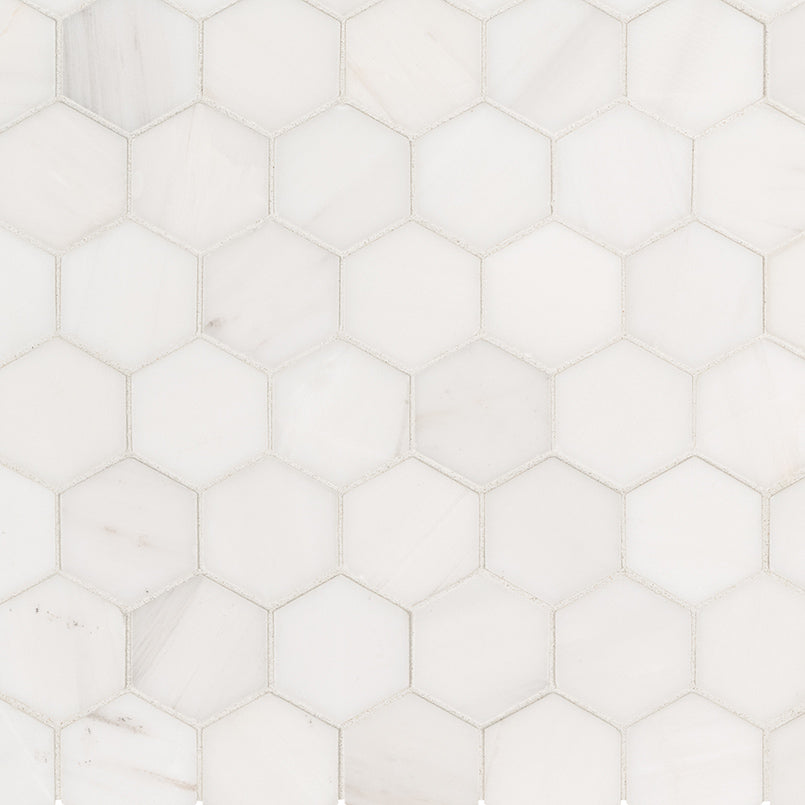 Bianco Dolomite Hexagon Tile