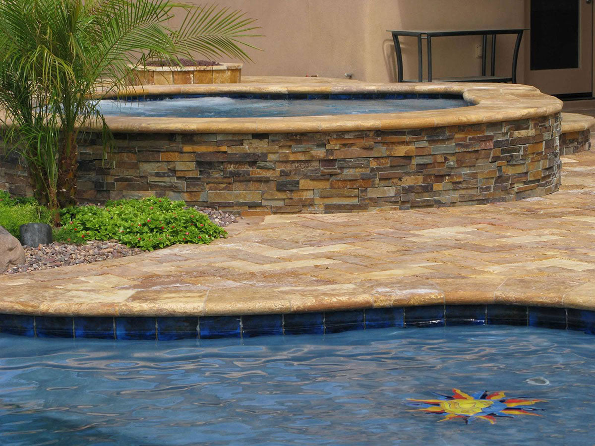 California Gold Rockmount Stacked Stone Panels