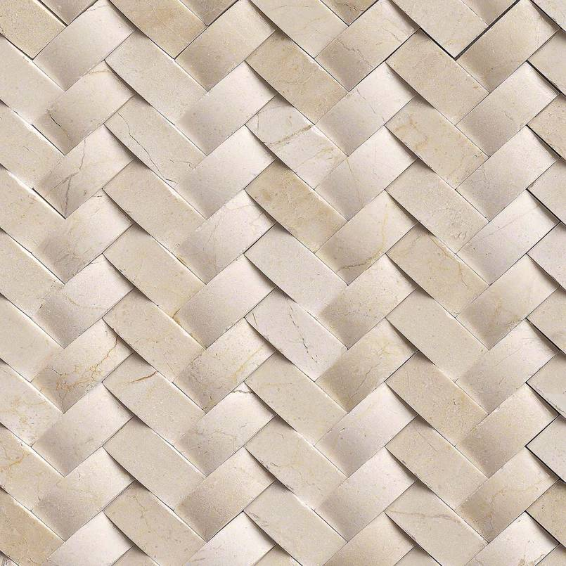 Crema Arched Herringbone Tile