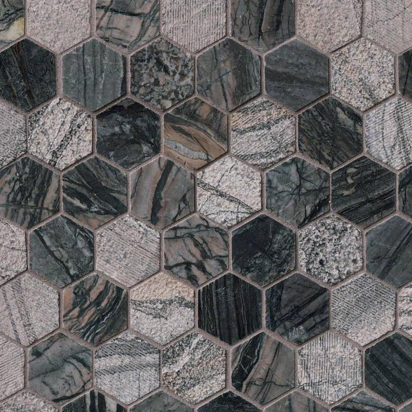 Henley Hexagon Multi Finished Tile