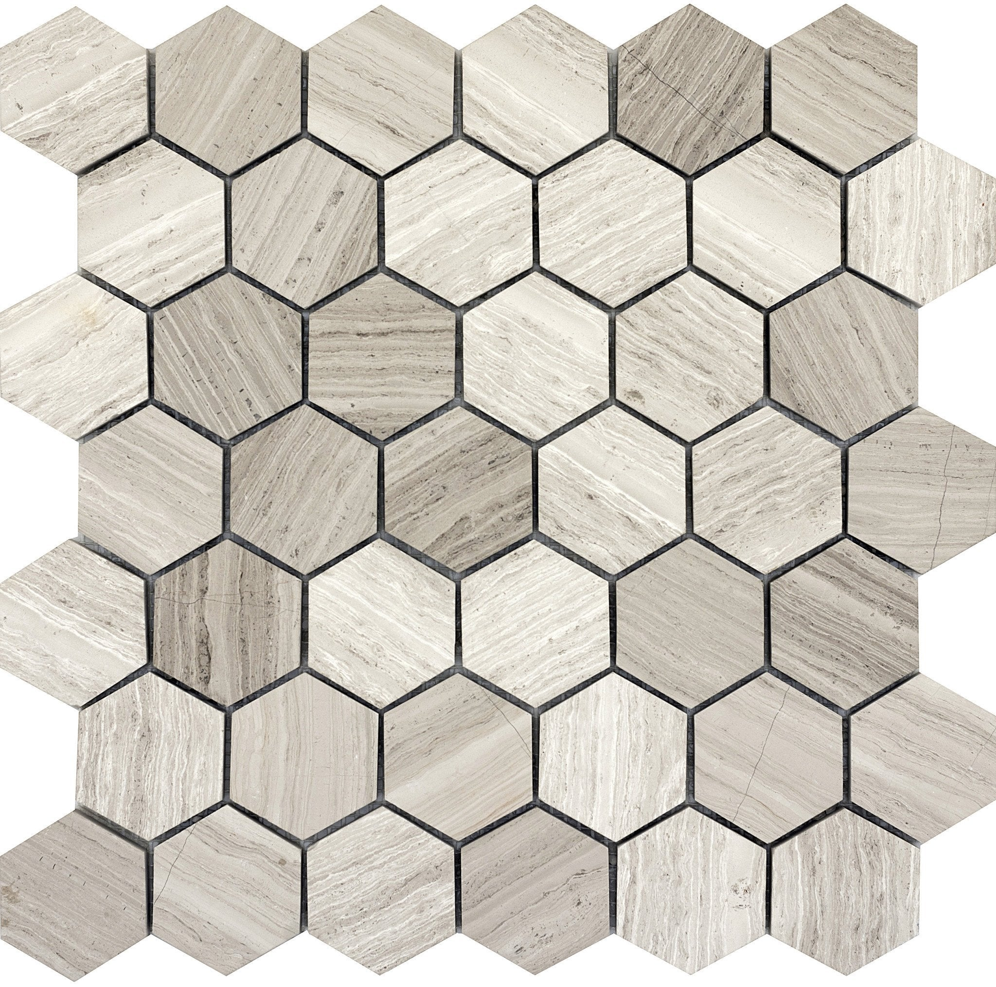 Metro Cream Hexagon Large