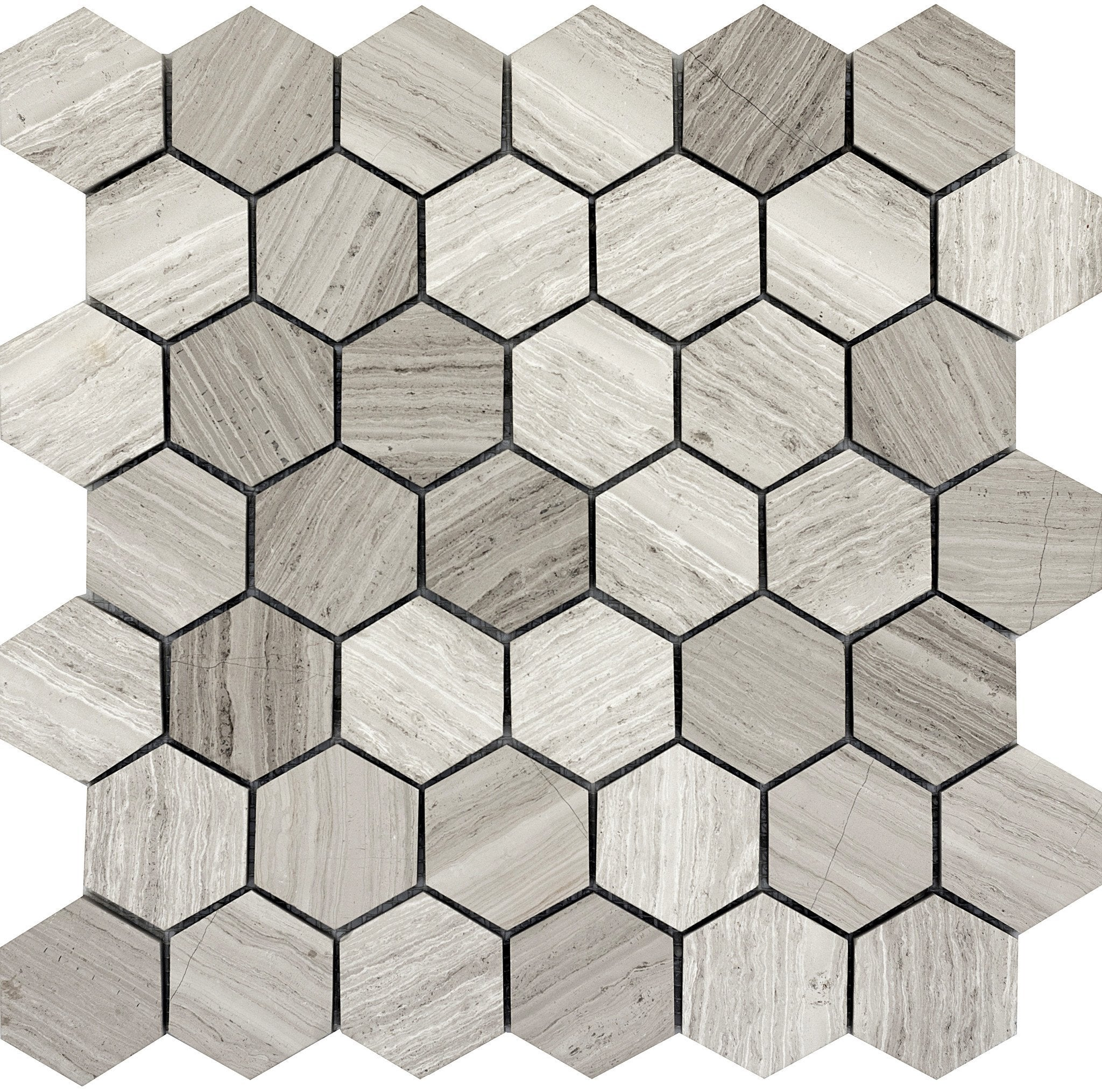 Metro Gray Hexagon Large