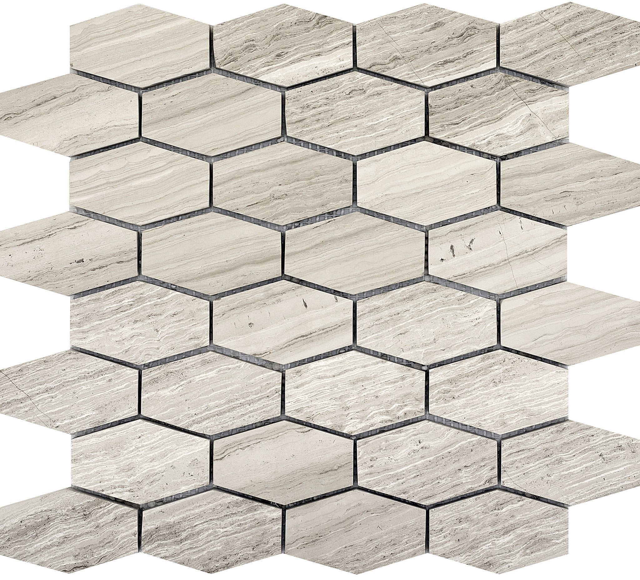 Metro Cream Wide Hexagon